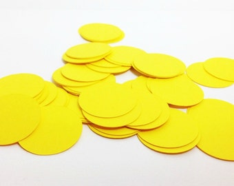 Yellow Circle Confetti - Paper Confetti - Paper Circles - 1 inch Circle - Party Decor - Table Scatter - Gender Netural Baby Shower