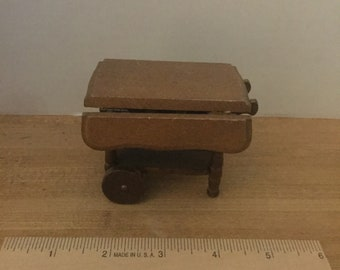 Dollhouse furniture Price vintage wooden tea cart #5