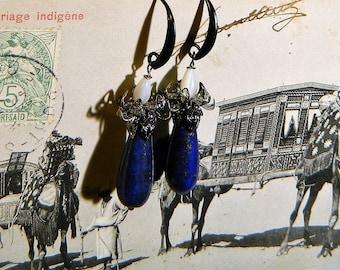 Lapis lazuli earrings.