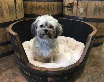 Authentic, Bourbon Barrel Dog Bed