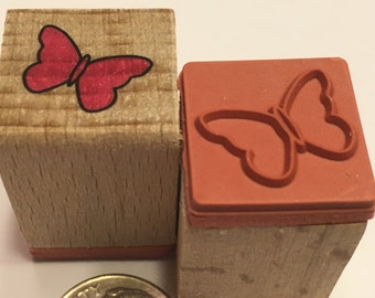 small / tiny Butterfly rubber stamp, 17 mm (BB1/2)