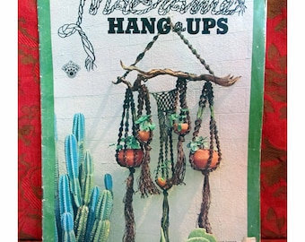 Macrame Patterns | MACRAME HANG-UPS by Bruce Morrison | Step-by-Step Instructions Illustrated Booklet ©1973 | Macrame Plant Hangers & Decor