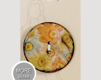Coconut Button  30mm ( 1 3/16 inches) Belle Buttons By Dritz Item BB766