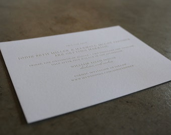 Simple Type letterpress Save the Date Cards