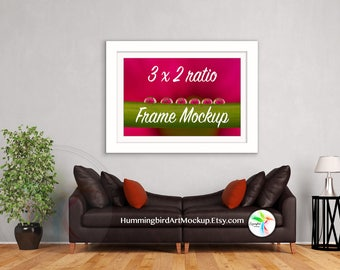 Stock Photo, Framed Mockup, Living Room, Mock up, 2x3 Ratio, Artwork Styled Image, Art Display, Wall Art, Marketing, 4x6, 8x12, Rustic
