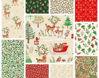 TRADITIONAL CHRISTMAS Collection 2017 by Makower Fabrics