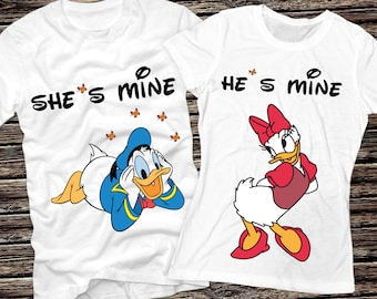 Donald and Daisy Duck t-shirt inspired by my two favorite love birds! WYPUK