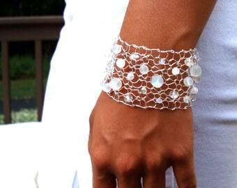moonstone bracelet rainbow moonstone jewelry white beaded bracelets arm cuff handmade jewelry silver cuff bracelet gift for her gift idea