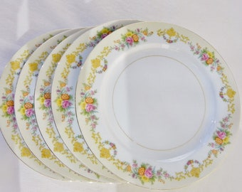 30s Noritake Imperial China Dinner Plates Pattern N1195