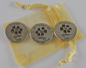 Set of 3 Thank You Pocket Pieces with Organza Bag