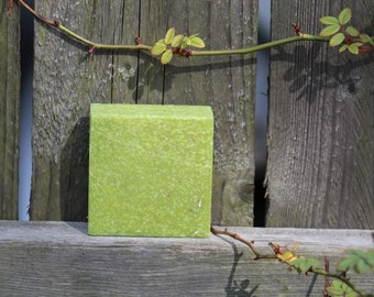 Jasmine Lime Handmade Soap FREE SHIPPING! Exfoliating Shea Butter Olive Oil Gifts for Her Cold Process Sea Salt Oatmeal
