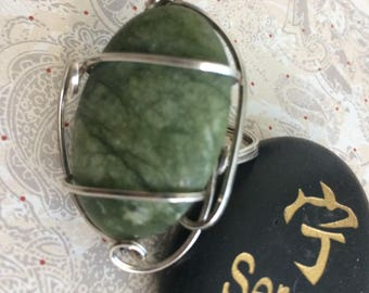 Ring Large Green Turtle Turquoise in SS