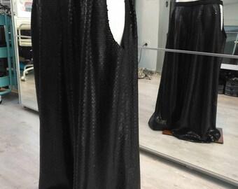 Tribal fusion black sequin harem pants