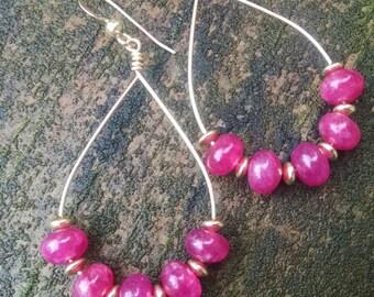 Ruby Rondelle Earrings