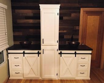 bath vanity etsy. Black Bedroom Furniture Sets. Home Design Ideas