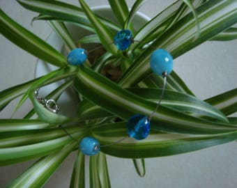 Simple turquoise blue gems Bracelet: