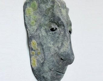 Norwyn Hornfels – Miniature Corbel head (Limestone effect) Wall Art, Sculpture,Art piece,Collectable,Decorative Fantasy Character