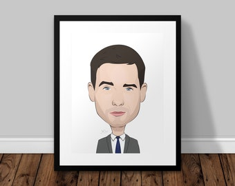 Mike Ross Suits Illustrated Poster Print | A6 A5 A4 A3