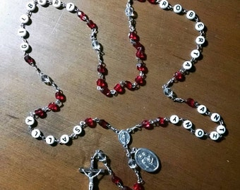 Family Name Custom Rosary - Mother's Rosary, Grandmother's Rosary, Handmade Catholic Heirloom Sacramental