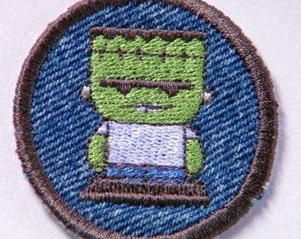 Little Frankenstein Halloween Patch / Merit Badge