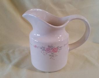 Pfaltzgraff Trousseau creamer/creamer/trousseau/pfaltzgraff creamer/floral creamer/vintage ceramic creamer