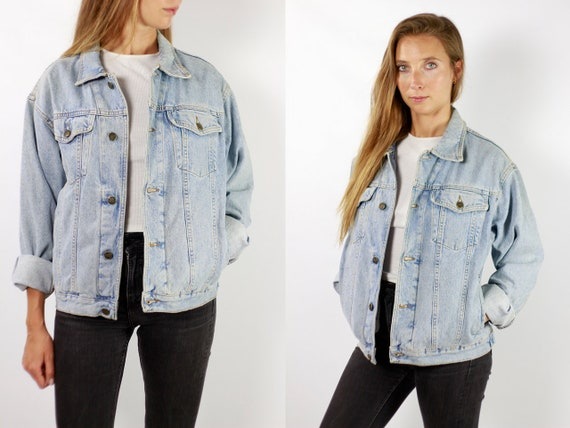 Denim Jacket Vintage Denim Jacket Oversize Jean Jacket 90s Denim Jacket 90s Jean Jacket Blue Jean Jacket Large Denim Jacket Grunge JJ250