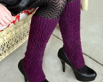 Knitting Pattern- Lacy Legwarmers