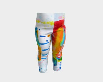 Party Pants Rainbow Cake Baby Leggings Toddler Clothing Kids Unisex Colorful Fashion Stretchy Pant cute baby yoga patterned tights new mom