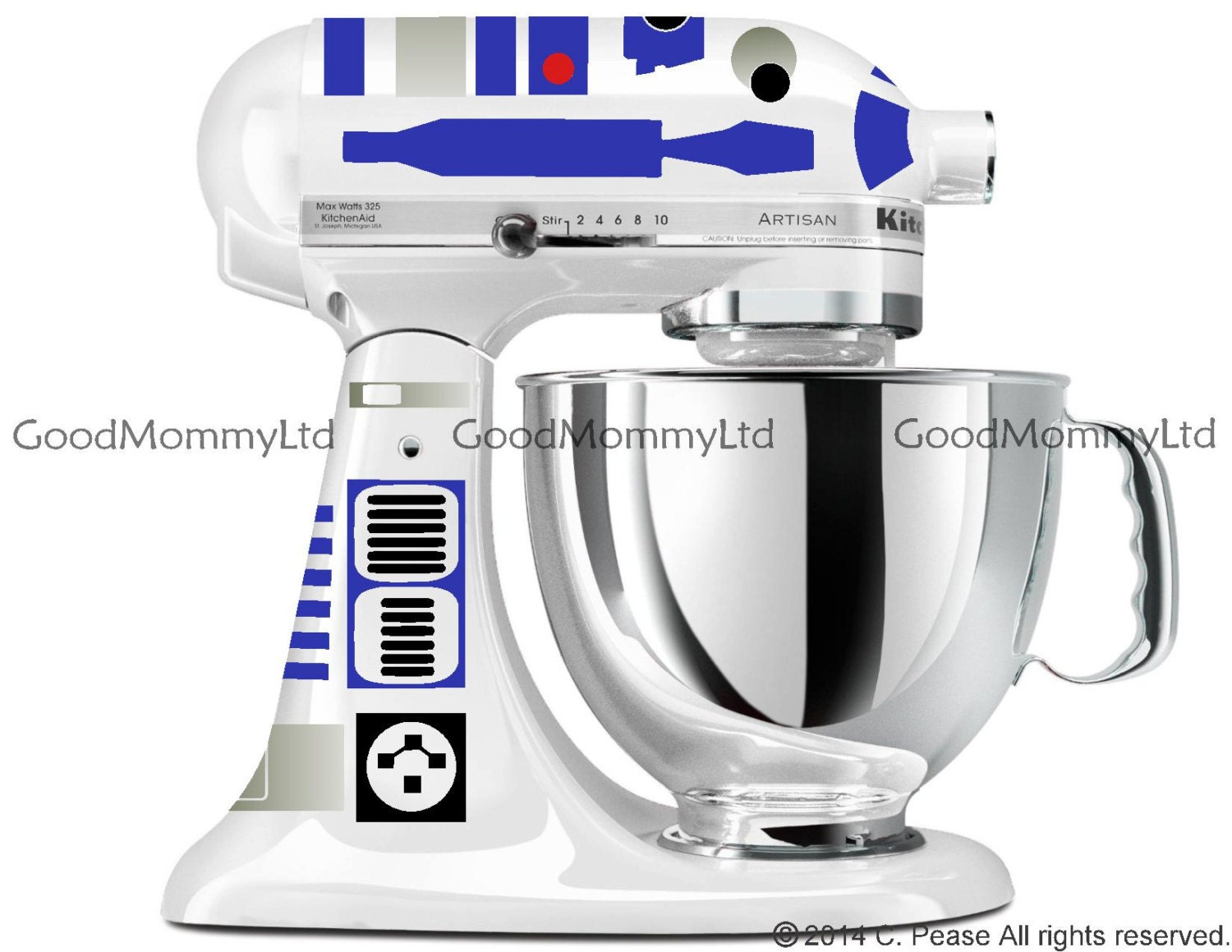 R2D2 Decal Kit for your KitchenAid Stand Mixer Star Wars