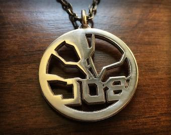Overwatch Reinhardt Stainless Steel 3D Printed Pendant Keychain