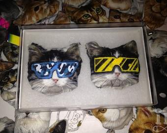 Major Lazer & Captain Murphy Cat Pins