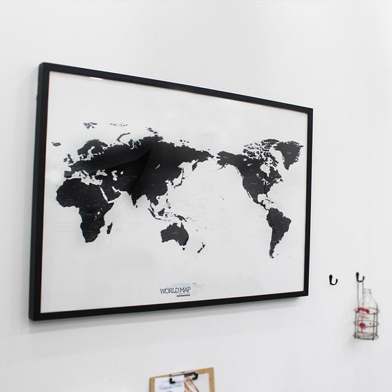 Black and white world map simple is the best draw your dreams around black and white world map simple is the best draw your dreams around the world gumiabroncs Images