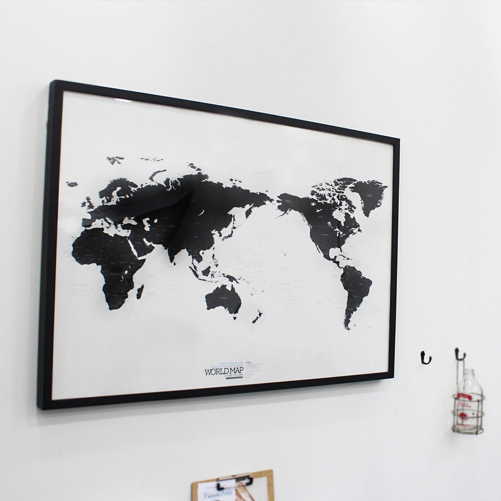 Black and white world map simple is the best draw your dreams zoom gumiabroncs Choice Image