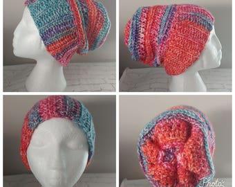 Crochet Hat - crochet beanie hat - crochet slouchy hat  - child - teen - adult - crochet toque - winter hat - beanie - Slouchy hat