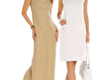 Burda Pattern 7664 Sleek One Piece Sleeveless Dress Sz 8-20 Uncut FF Fitted Office Wear Dress Sewing Patterns Sew Supplies