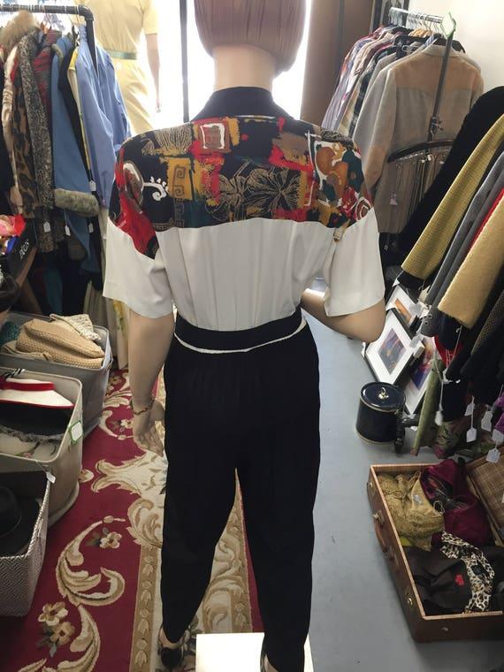 Vintage 90's jumpsuit Southwest Print  with Belt Sz 8