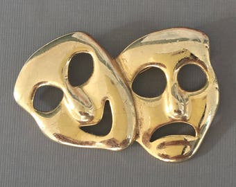 Vintage Theater mask Brooch