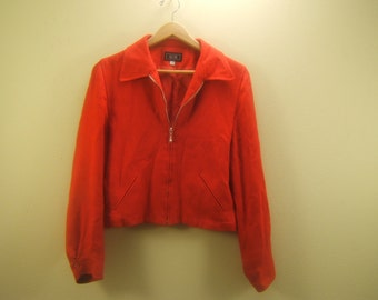 Red Cotton/Linen Jacket