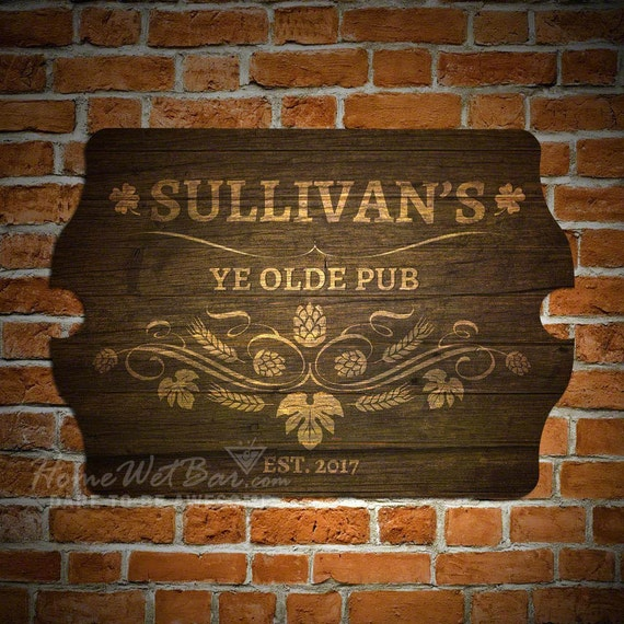 Ye Olde Pub Personalized Bar Sign Old Fashioned Pub Sign In