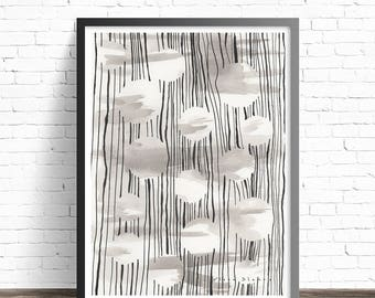 Black and white abstract art. Modern home decor. Black and white art print. Abstract wall art decor. Black and white wall art