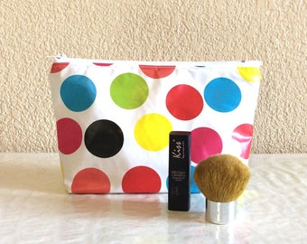 Pop cosmetic bag - large multicolored dots