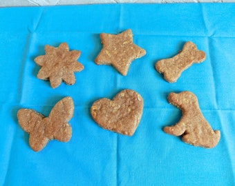 Apple-licious Peanut Butter Dog Biscuits