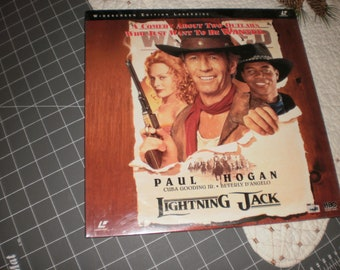 Lightning Jack Laserdisc sealed Paul Hogan Cuba Gooding Jr. WIDESCREEN edition