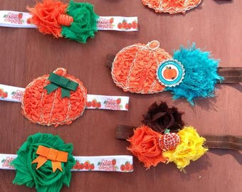 """Fall Inspired Headbands 0-6 month (14"""" band)"""