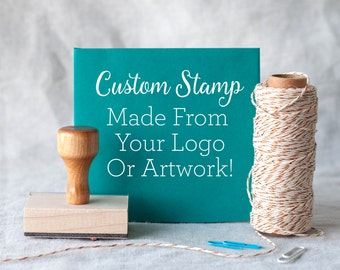 "Custom rubber stamp from your logo or artwork - custom logo stamp - custom packaging stamp - custom size stamp 1x1"" 2x2"" 3x3"" 1x2"" 2x4"""