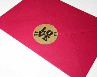 24 x wedding invite stickers, love stickers, love envelope seal, engagement stickers, engagement invites, wedding invite sticker, 042