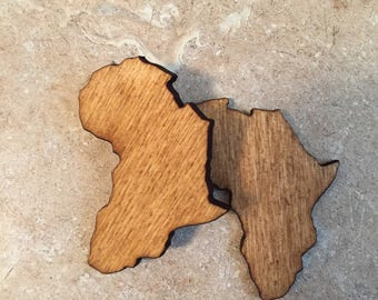 Africa Shaped Stud Earrings