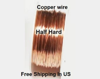 5 Oz Round Solid Copper Wire ( Half Hard ) On Spool - 99.9% Pure Copper ( Gauges - 12 - 14 - 16 - 18 - 20 - 22 - 24 - 26 - 28 - 30 )