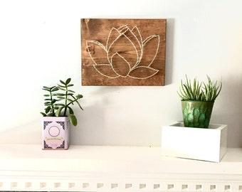 Lotus wall art, living room wall art, dining room wall art, bathroom wall art, bedroom wall art, nursery wall art, entry way, boho decor,