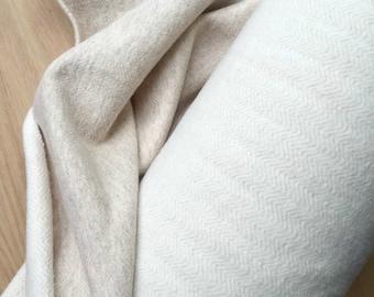 Organic hemp fleece knit twill in Natural, organic fabrics, organic cotton fabric